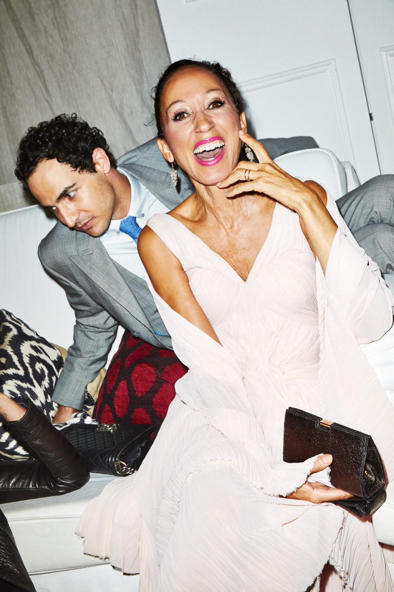 Pat Cleveland and Zac Posen for Glamour