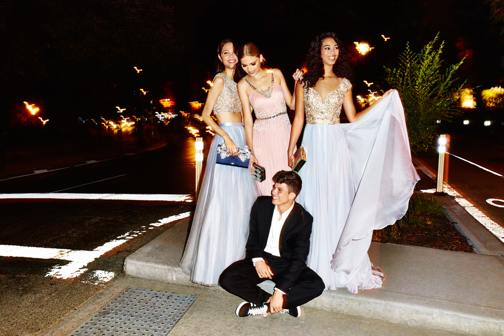 Skye, Kate, Dakota and Joe for Seventeen Prom