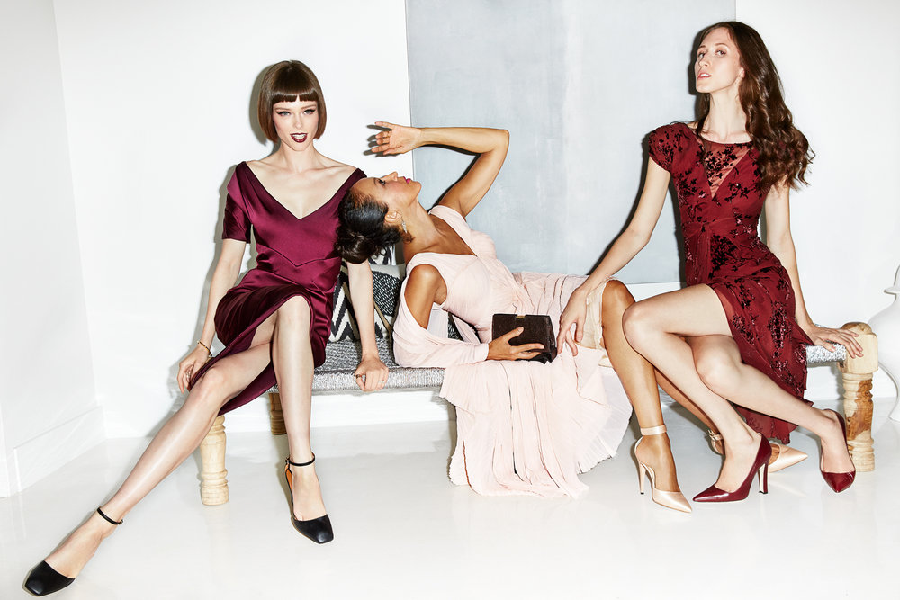 Coco Rocha with Pat and Anna Cleveland for Glamour