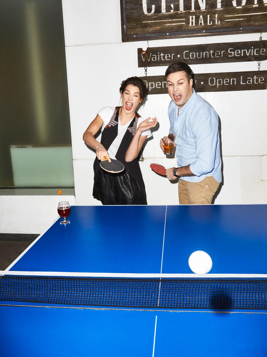 Taran Killam and Cobie Smulders for Entertainment Weekly