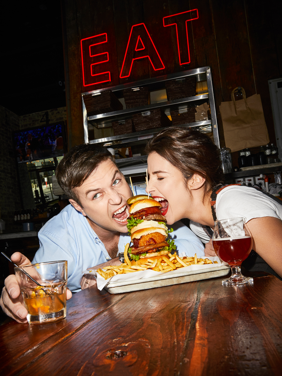 Taran Killam and Cobie Smulders for Entertainment Weekly
