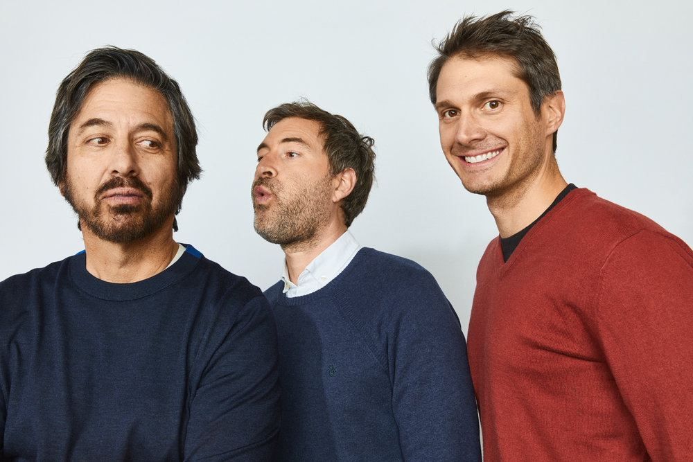 Ray Romano, Mark Duplass and Alexandre Lehmann at Sundance 2019 for Getty Entertainment