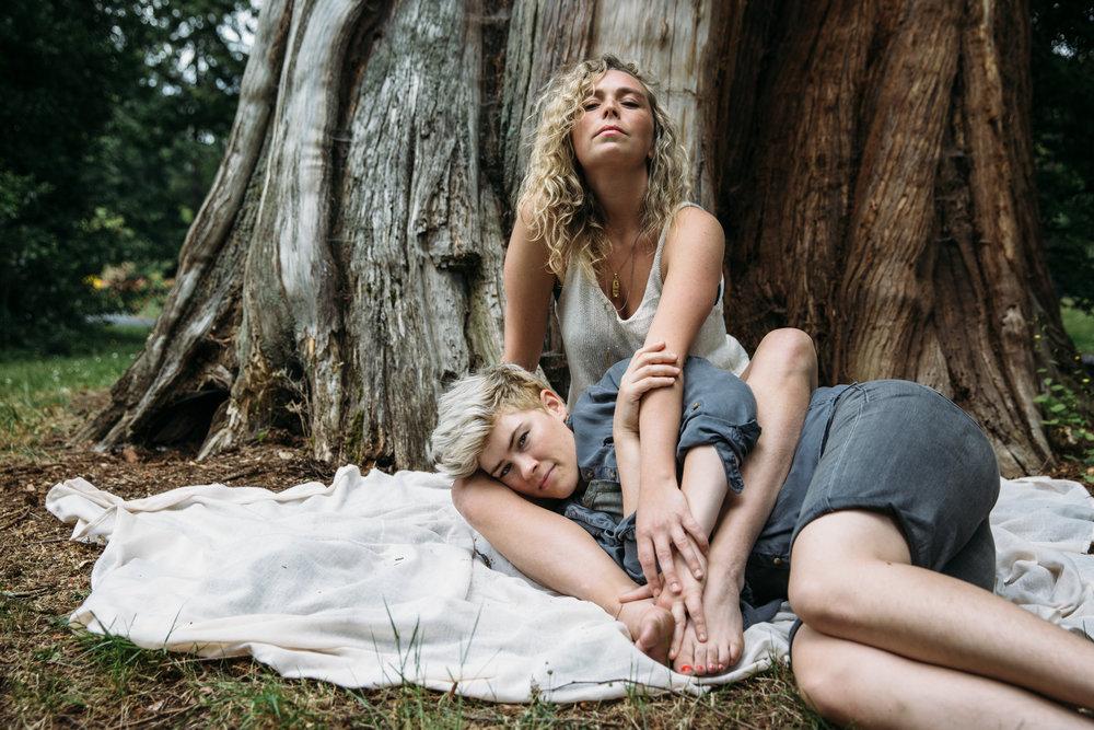 Olivia Hutt and Sara Vickruck, photo by Jackie Dives