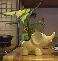 Yellow Elephant Planter