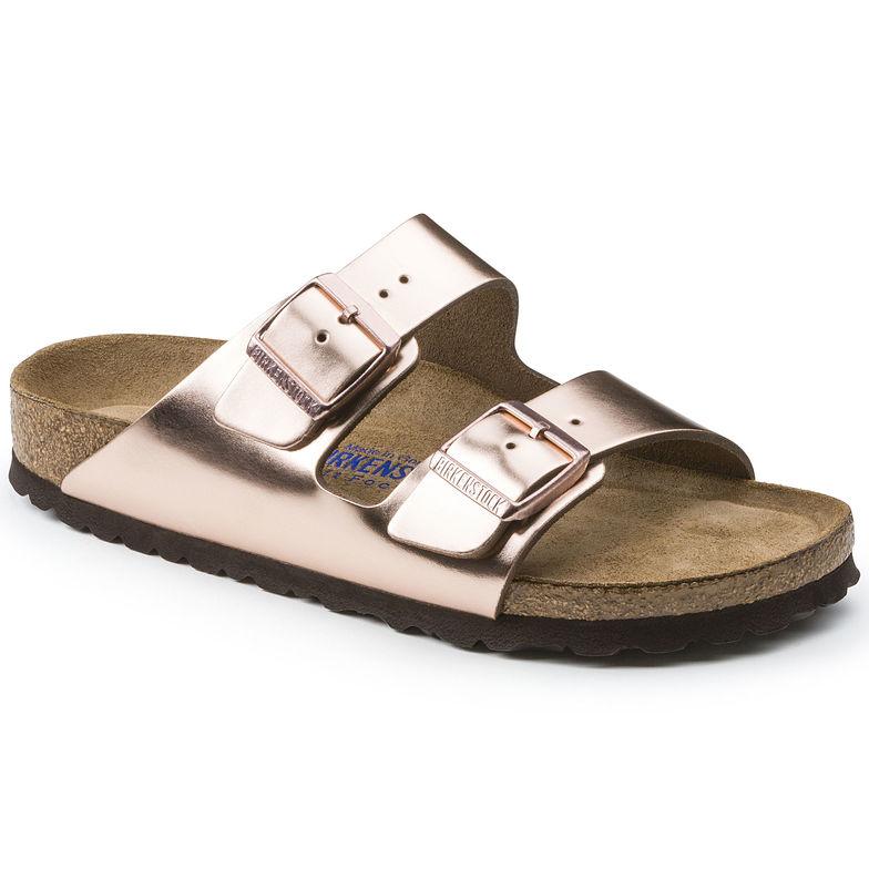 2286b77c5e1 Arizona Soft Footbed Metallic Copper — Masada Leather
