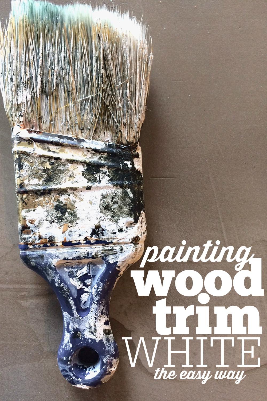 how to paint wood trim white melissa voigt. Black Bedroom Furniture Sets. Home Design Ideas