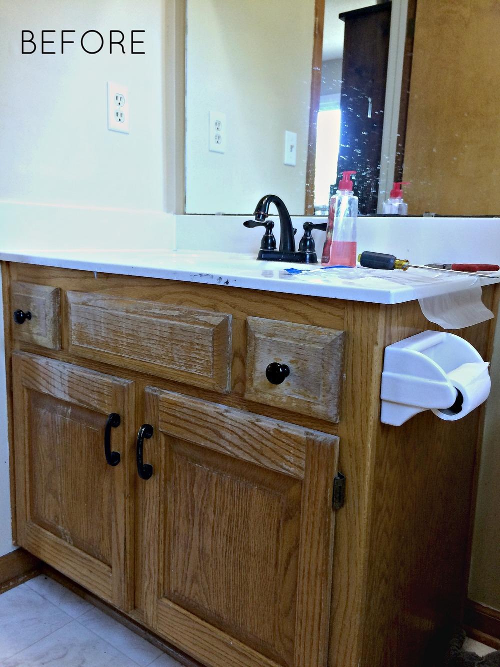 Diy Industrial Farmhouse Bathroom Vanity Melissa Voigt
