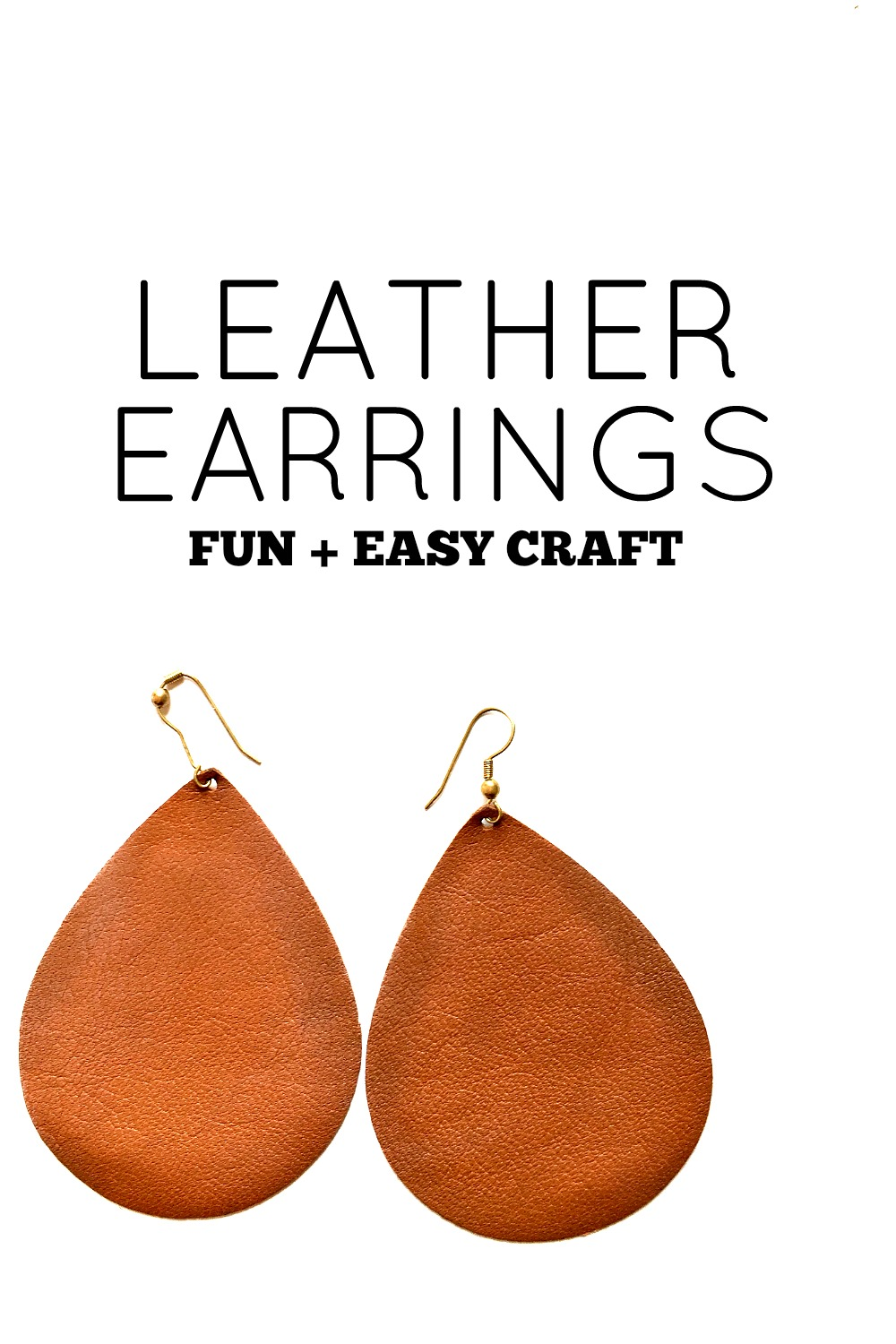 Make Your Own Leather Earrings Melissa Voigt