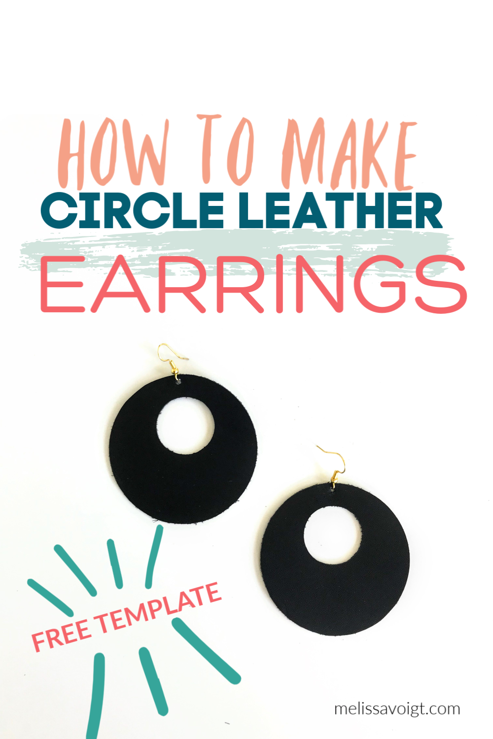 Circle Cutout Svg Leather Earring Template Melissa Voigt