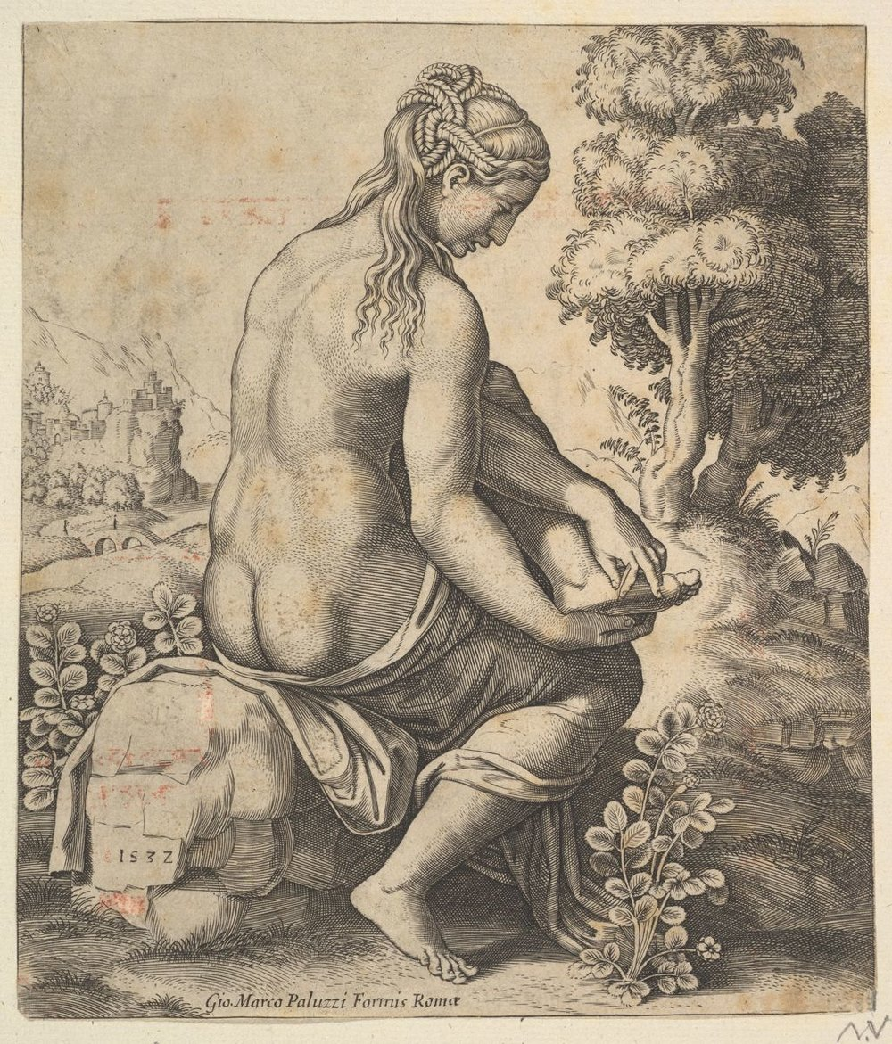 Venus removing a thorn from her foot.jpg