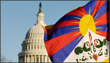 Tibet flag at US capitol