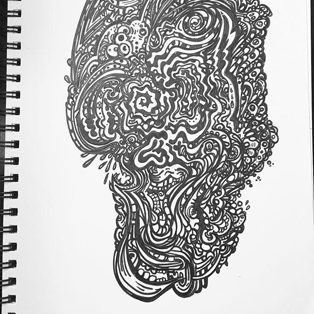 #mood #sketchbook #doodle #penandink #uniball #trippy #pyschedelic #primussucks #acidart