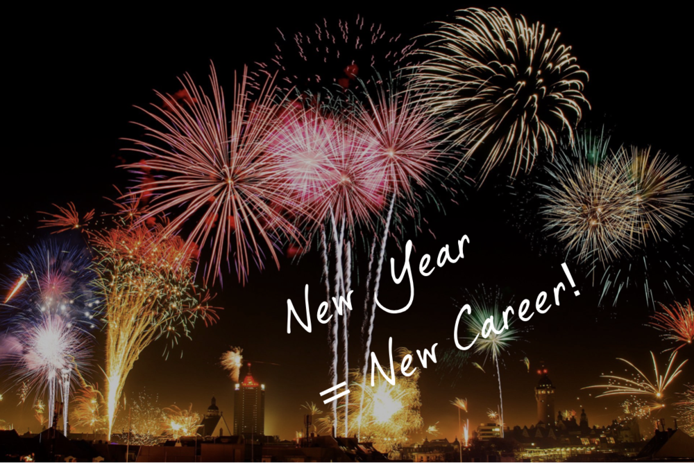 New year = new career - fireworks