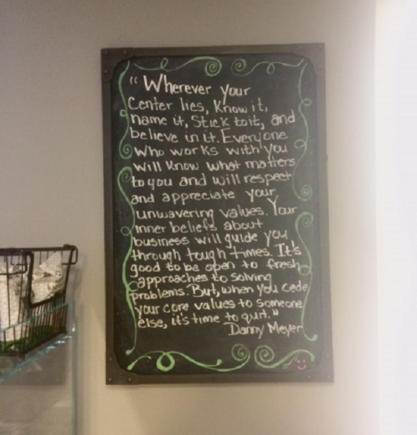 Quote on the wall at one of my favorite smoothie bars. I always love reading this.