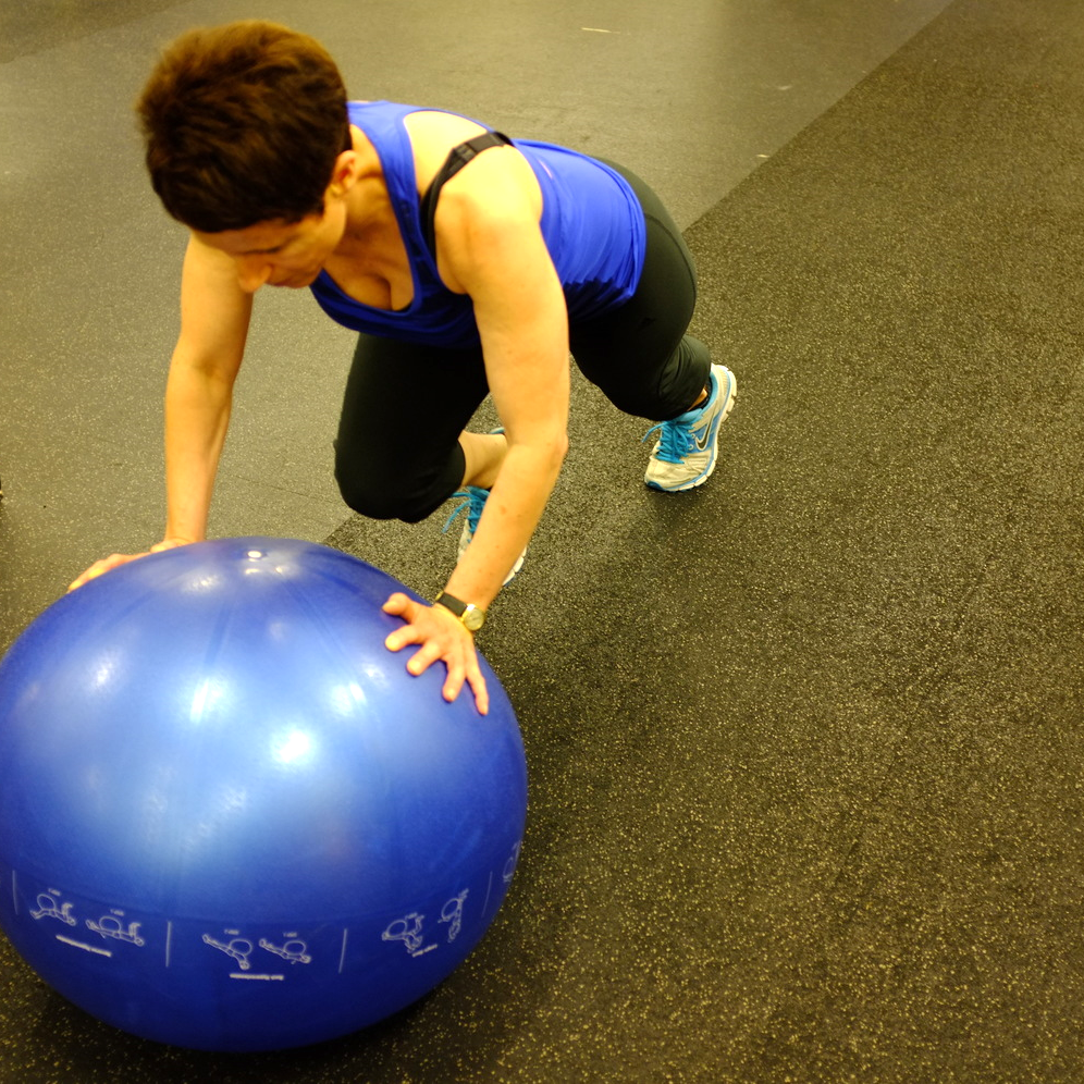 low back pain prone ball