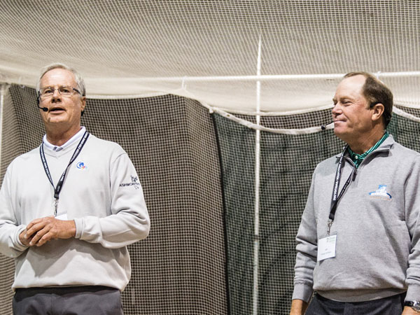 Mark Rolfing (left)  with Jeff Sluman (right), PGA Touring Professional