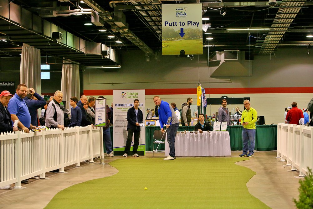 Attendees showed off their short game skills in KPMG Women's Championship 85-foot Long Putt Contest!