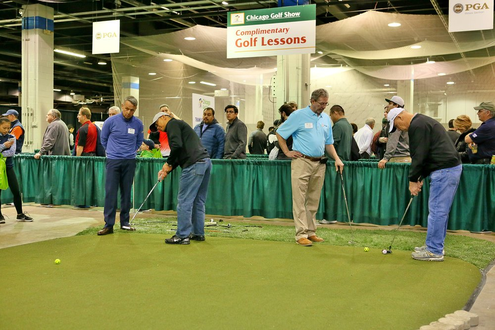 Free lessons and tips from the PGA Pros were offered to attendees to help them get ready for the new season!