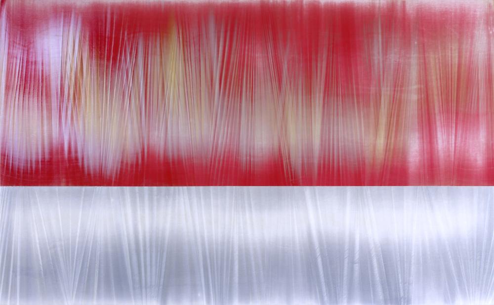 """Untitled  Thomas Zitzwitz ZW155 Acrylic on Canvas 46"""" x 75"""""""
