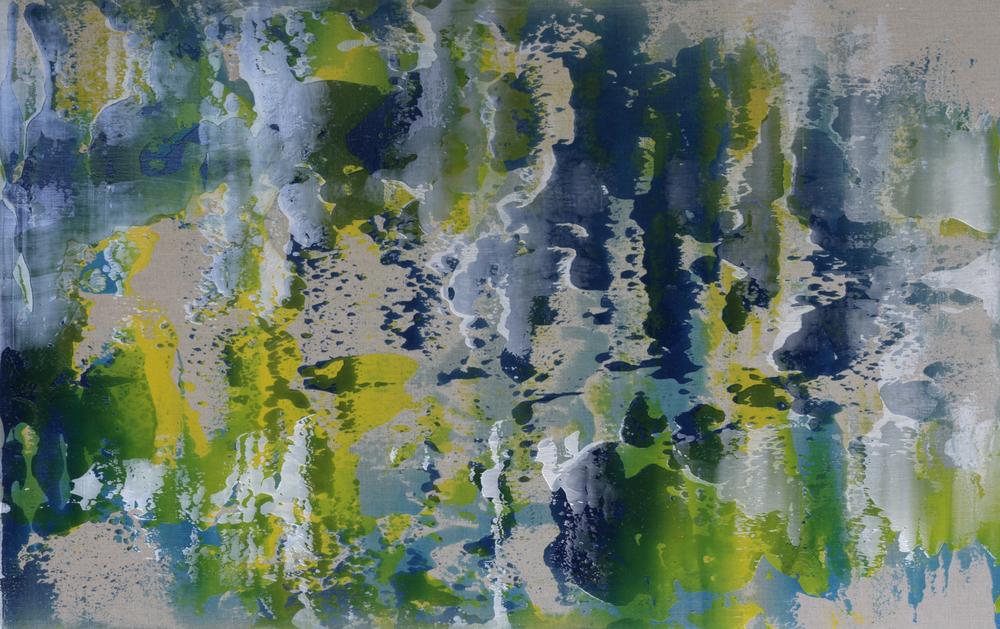 """Untitled  Thomas Zitzwitz ZW159 Acrylic on Canvas 46"""" x 75"""""""