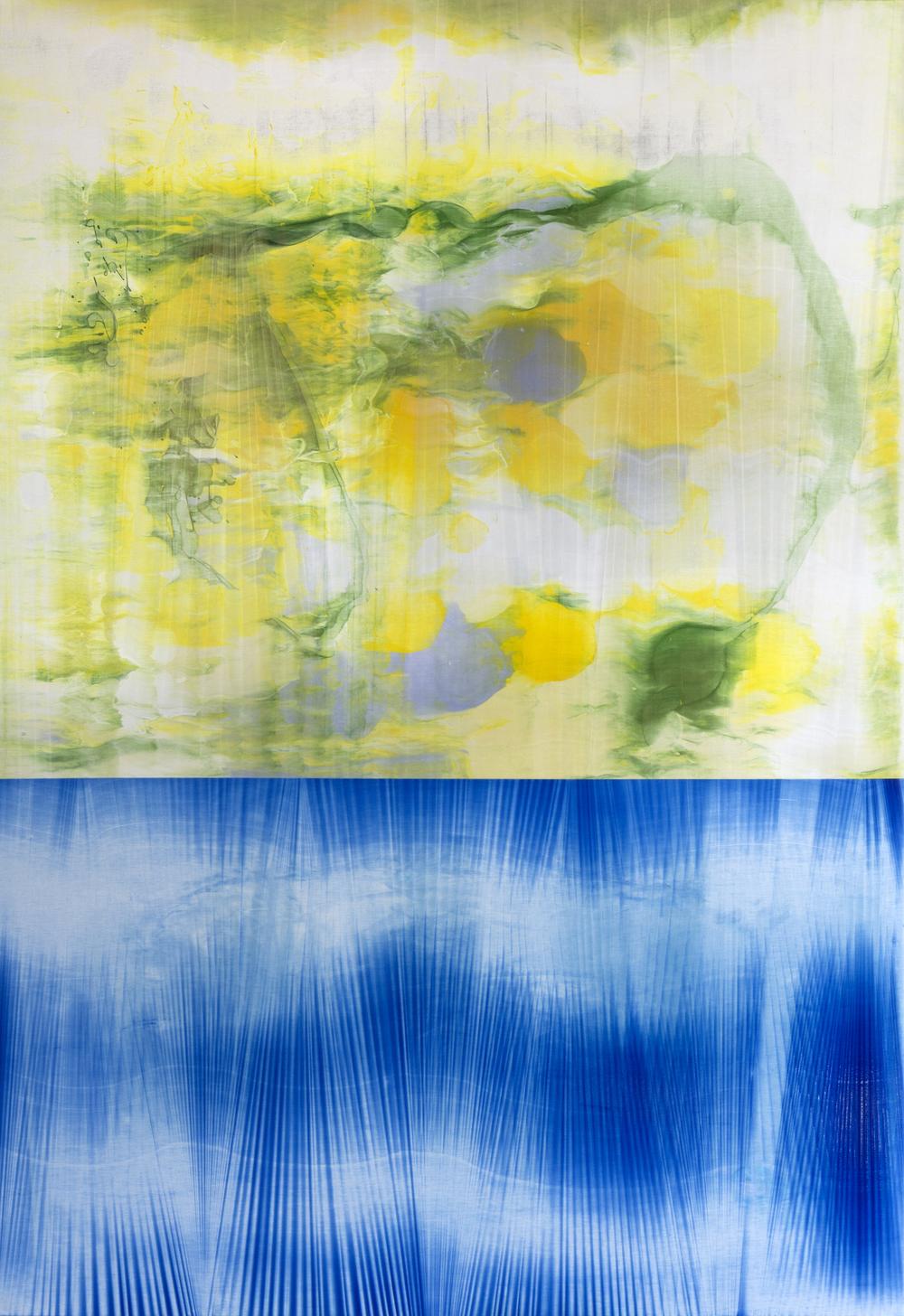 """Untitled  Thomas Zitzwitz ZW162 Acrylic on Canvas 75"""" x 52"""""""