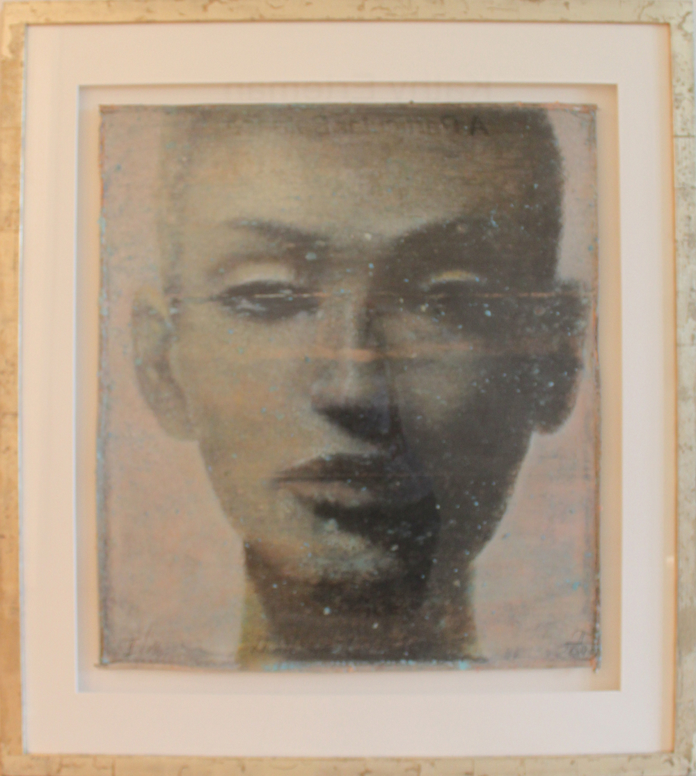 "Nefertiti SII  Eric Peters ES179 Oil & Watercolor on Paper 48"" x 43"""