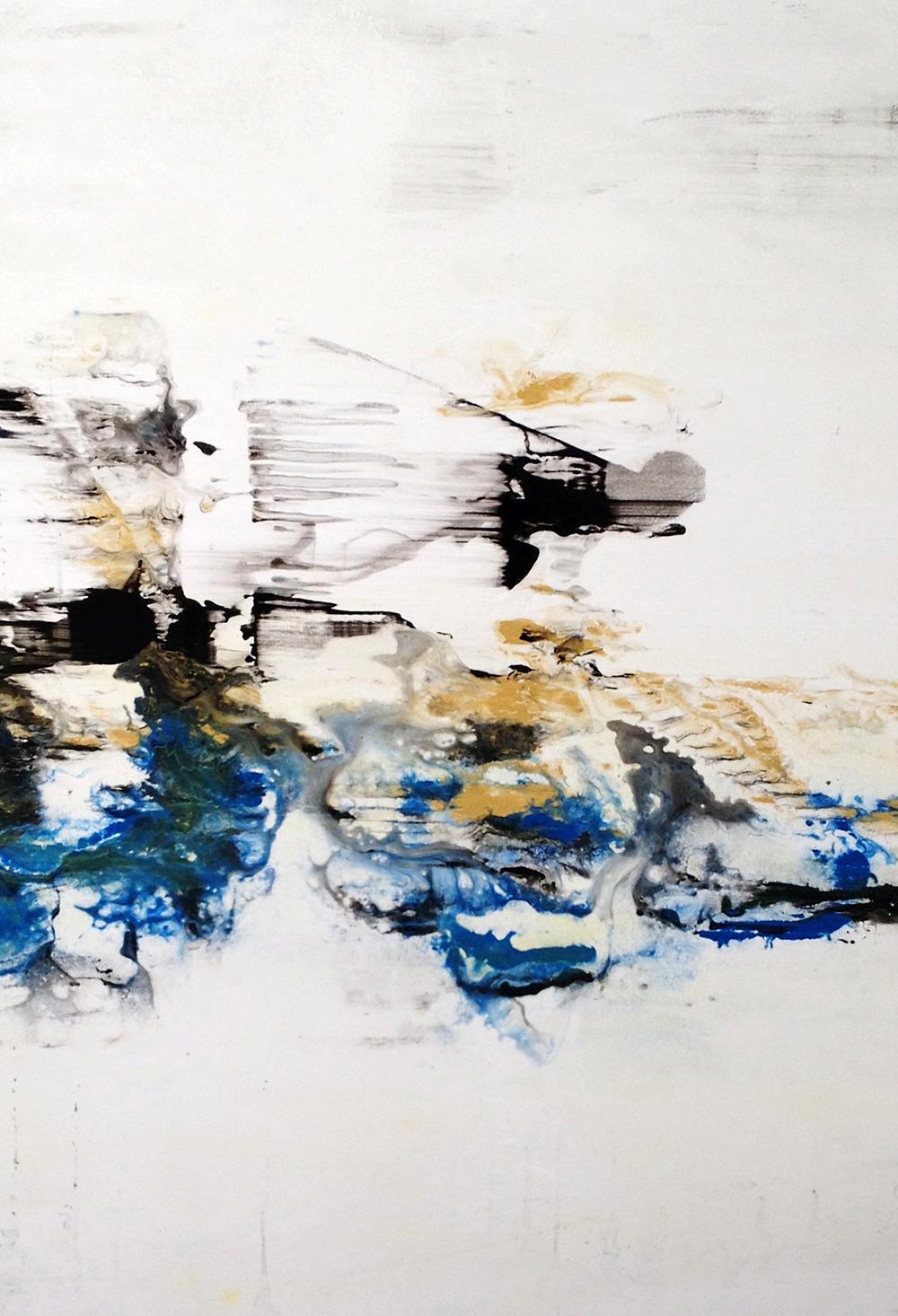 "Atlantis   Nicola Parente NP354 Acrylic, ink, charcoal powder on panel 36"" x 26"""