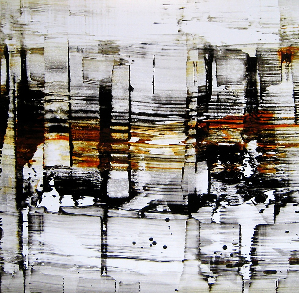 "Midday      Nicola Parente NP276 Acrylic, ink, charcoal and pen on synthetic panel 30"" x 30"""