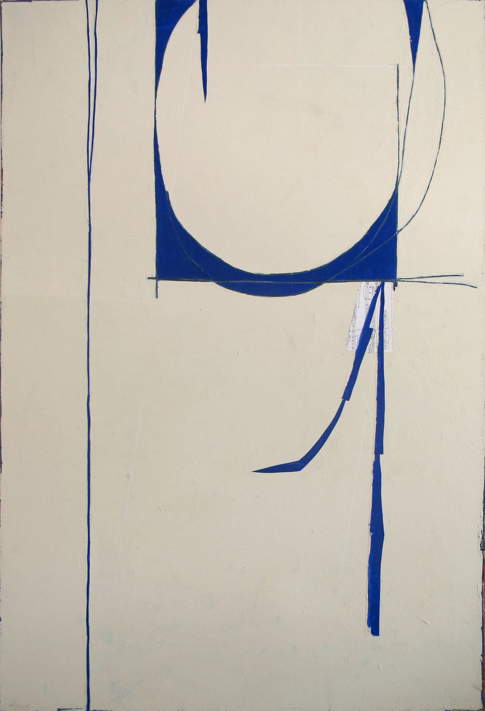 "Blue North  John Pavlicek JP3285 Mixed Media on Canvas 66"" x 44"""
