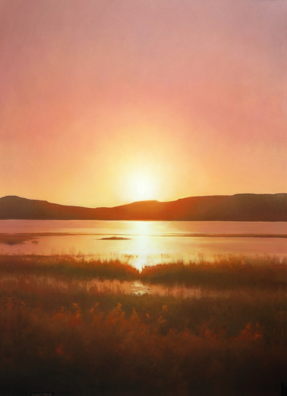 "Rising Sun  Bruce Brainard BR883 Oil on Canvas 72"" x 52"""