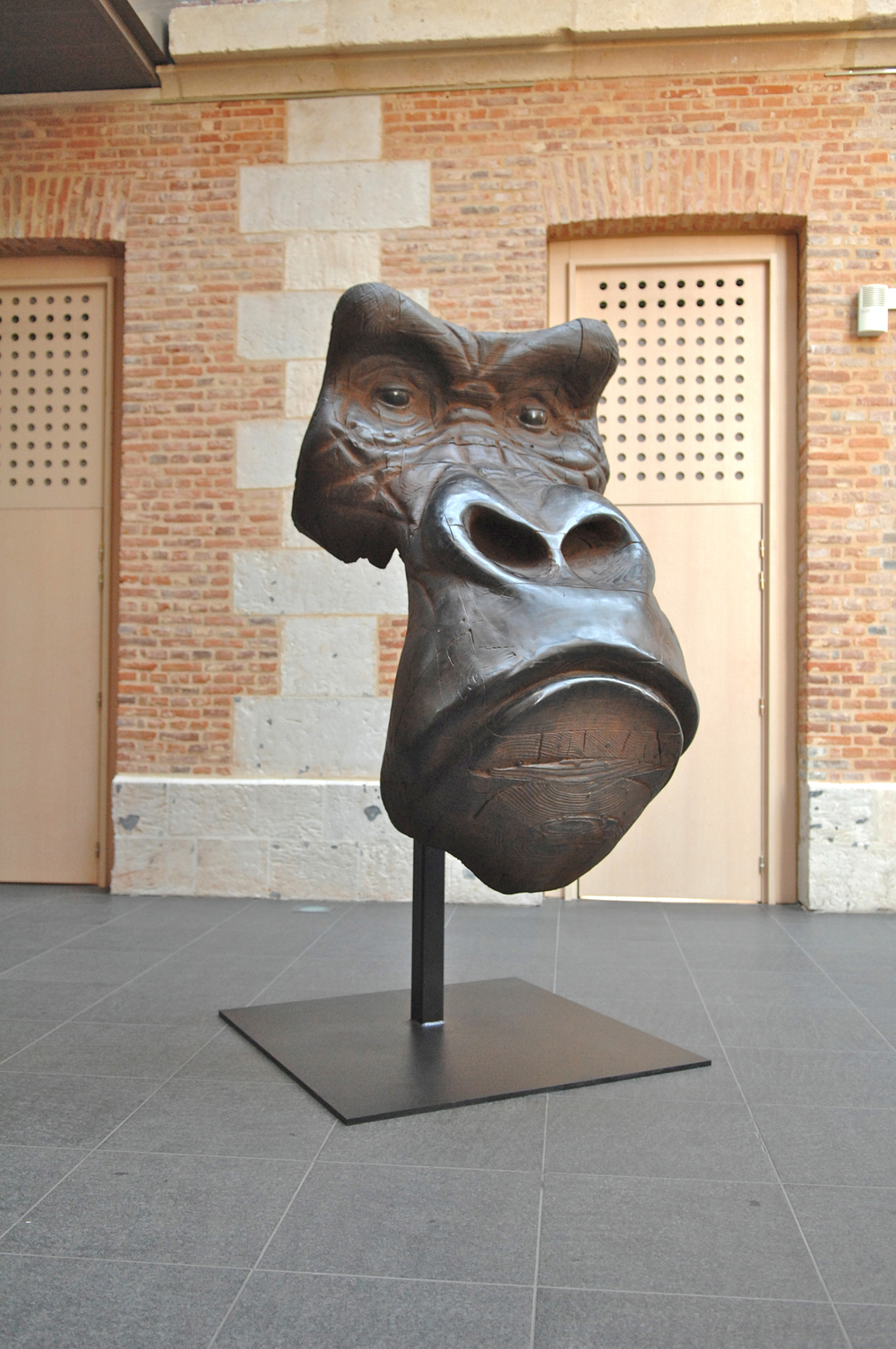 "Masque de Gorille III  Quentin Garel QG108 Bronze 86"" x 43"" x 43"""