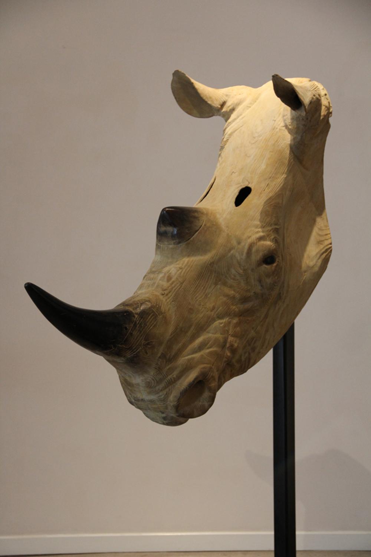 "Rhinoceros II  Quentin Garel QG117 Bronze 85"" x 47"" x 22"""