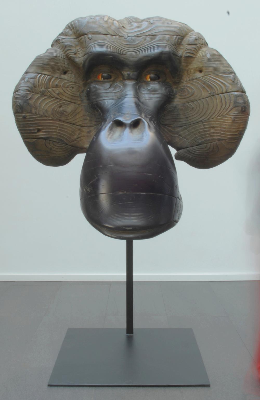 """Masque d'Orang-outang II  Quentin Garel QG118 Bronze 55"""" x 37"""" x 14"""""""