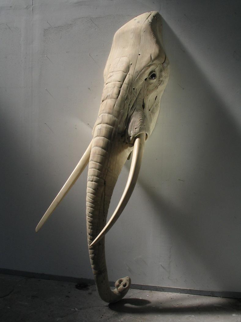 """Etude d'Elephant  Quentin Garel QG124 Bronze 96"""" x 35"""" x 39"""""""