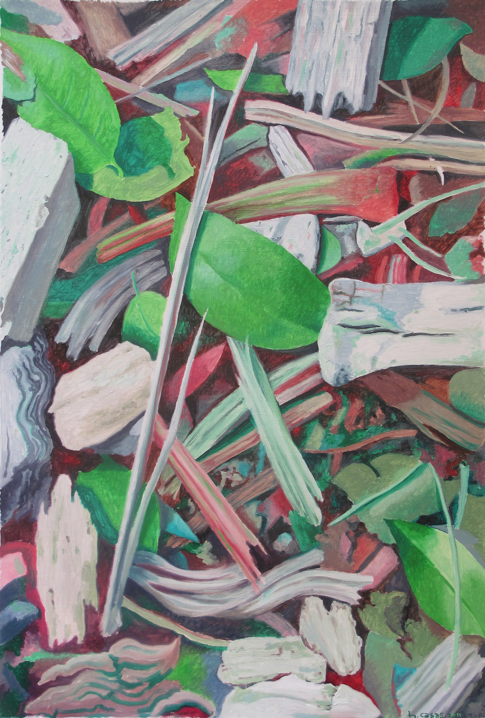 "Ground Clover III  Fernando Casas CA335 Oil on Paper 33"" x 24"""
