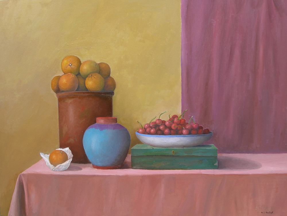 "New York Still Life Number One  Muriel Kalish MK145 Oil on Canvas 30"" x 40"""