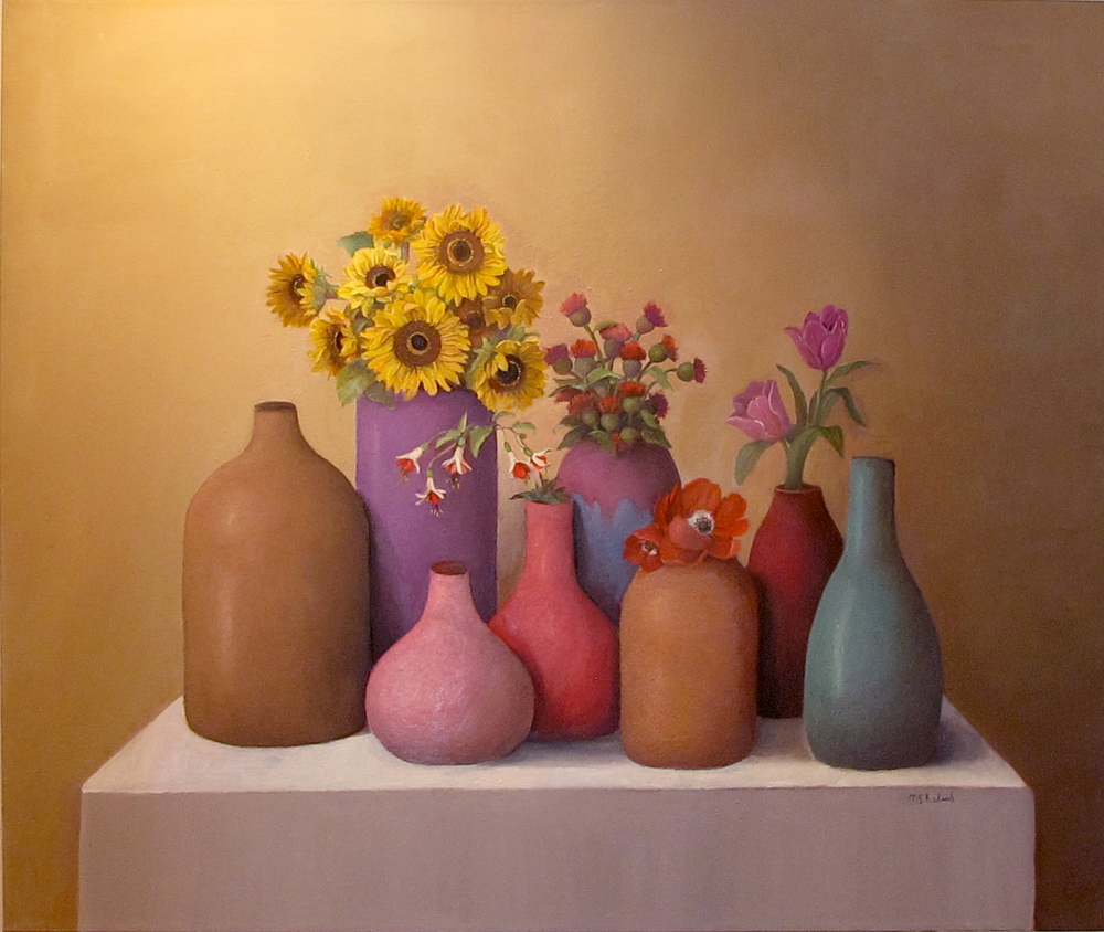 "Sandy Painting #2  Muriel Kalish MK151 Oil on Canvas 30"" x 36"""