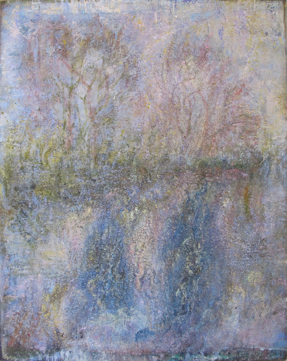 "Couples Trees (L.I.)  Eric Holzman HZ186 Mixed Media on Canvas 45"" x 35"""