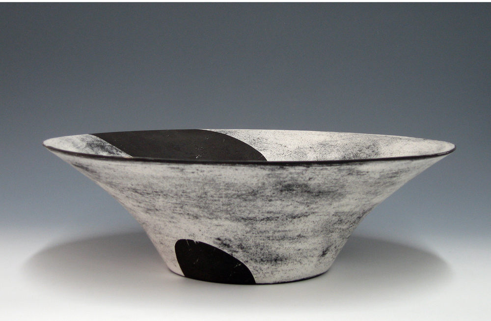 """Lotus Bowl  Kathy Erteman ET130 Ceramic 20"""" x 7"""""""