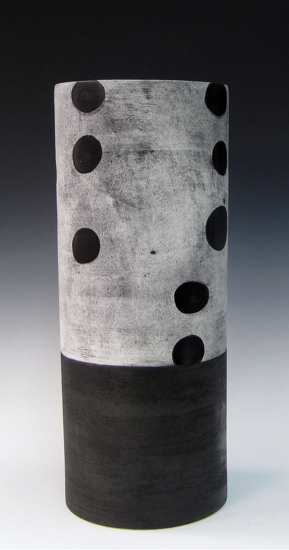 "Black Dot  Kathy Erteman ET131 Ceramic 19"" x 8"""