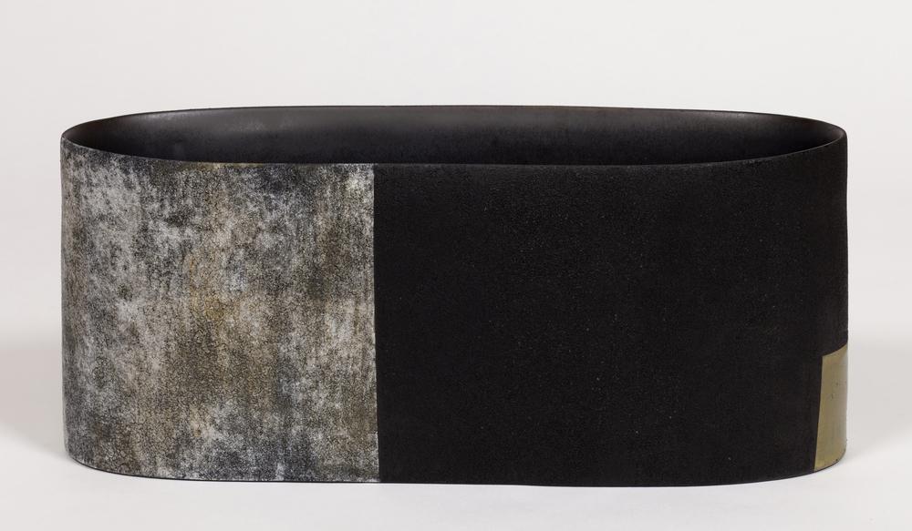 "Boxite  Kathy Erteman ET137 Ceramic Vessel 6"" x 18"" x 5"""