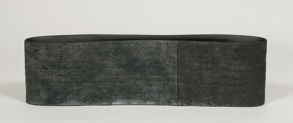 "Slope  Kathy Erteman ET140 Ceramic Vessel 7"" x 27"" x 4"""
