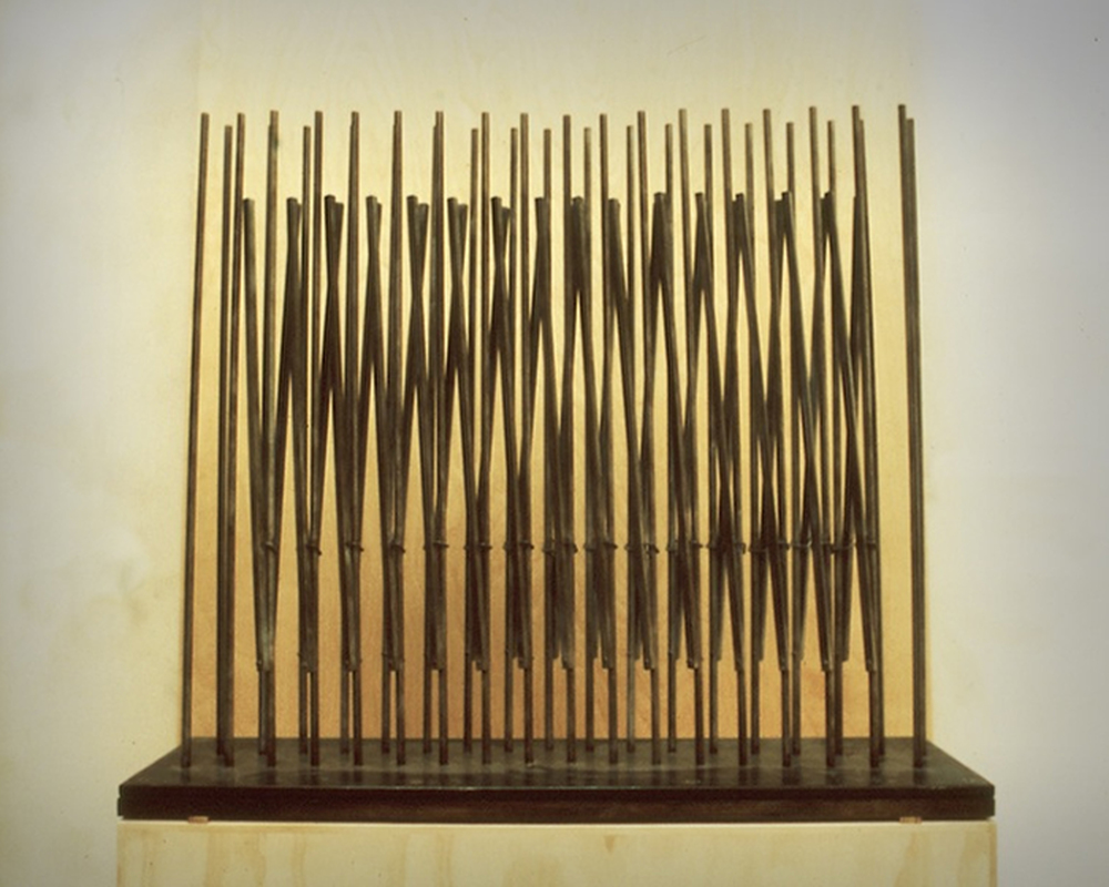 "Thicket-30  John Christensen CR203 Steel on Wood Base 30"" x 36"" x 8"""