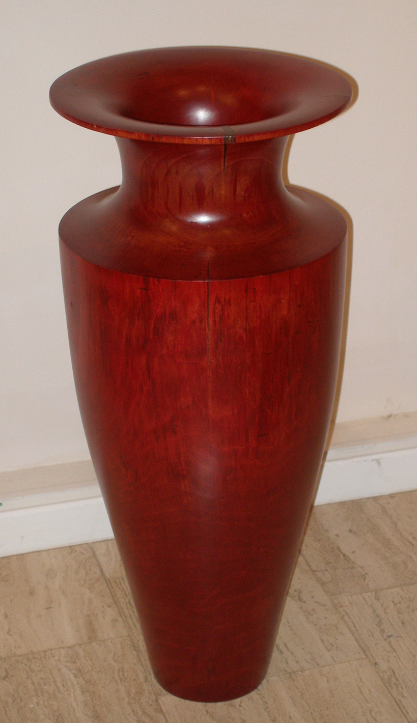 "Classic Vessel Series XV  Roger Foster FS139 Sweet Gum with Red Dye 14"" x 14"" x 33"""