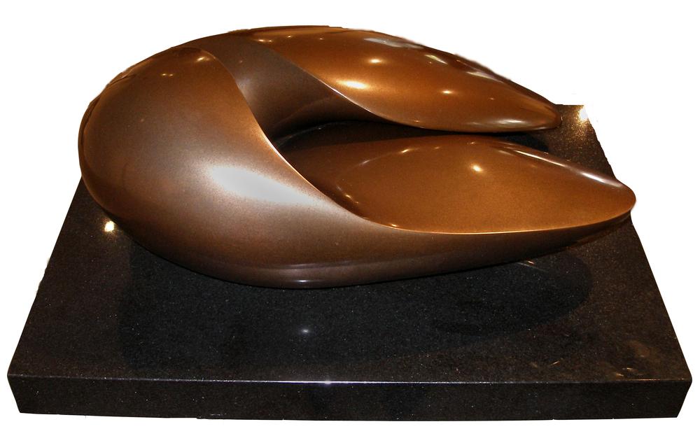 "Large Split Almond (ClosedVersion)  Jack Zajac JZ110 Bronze 10.5"" x 26"" x 18"""