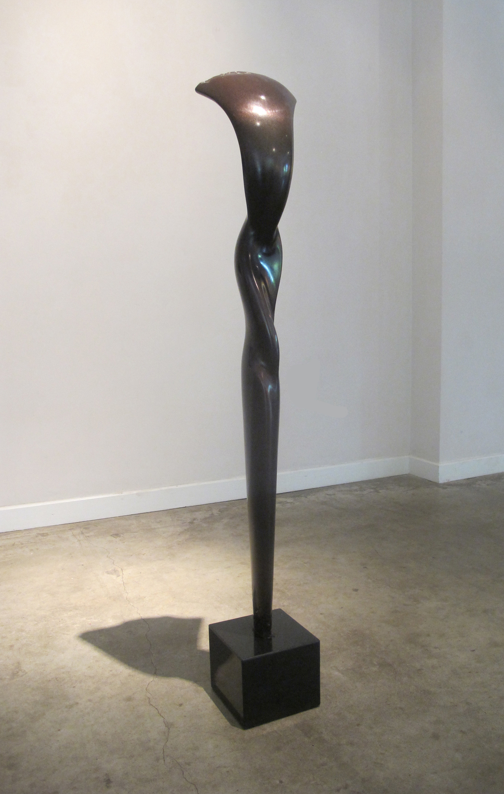 "Falling Water  Jack Zajac JZ146 Bronze, with Brown Patina 45"" x 8"" x 8"""