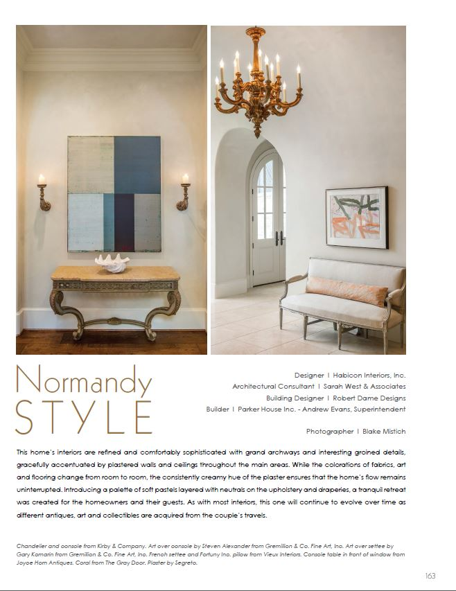 Gremillion Co Fine Art Inc Featured In Leslie Sinclairs Segreto Style