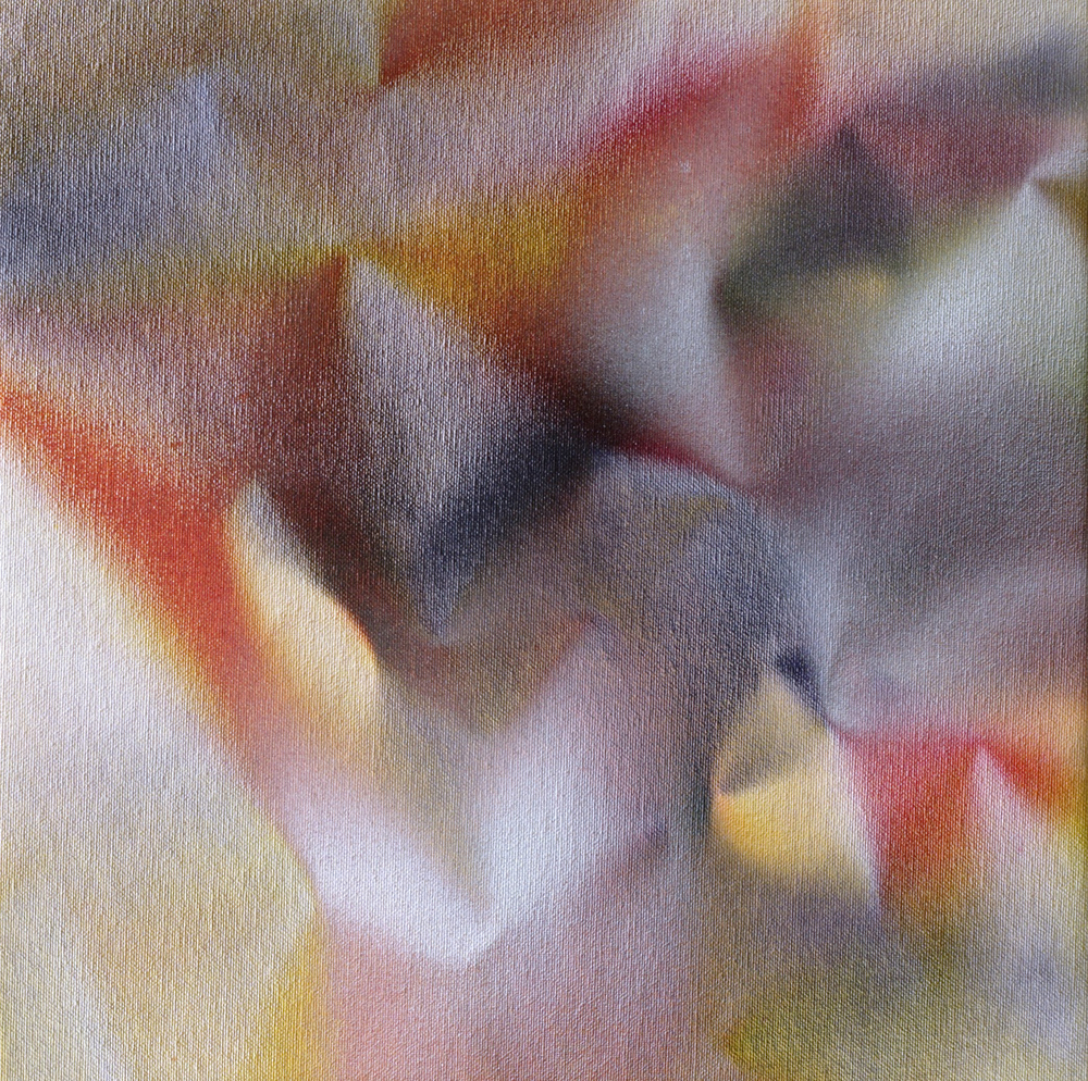"""Untitled  Thomas Zitzwitz ZW144 Acrylic on Canvas 13"""" x 13"""""""