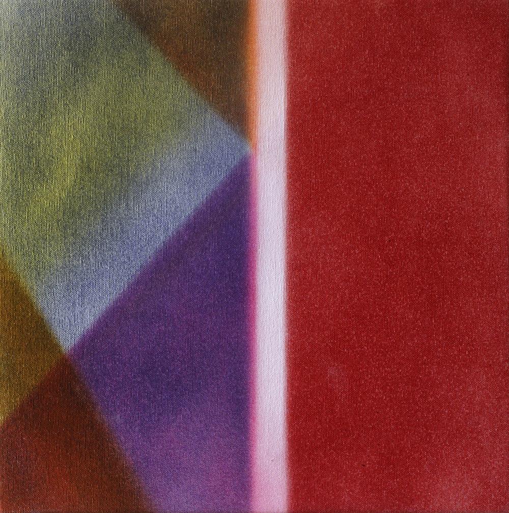"""Untitled  Thomas Zitzwitz ZW145 Acrylic on Canvas 13"""" x 13"""""""