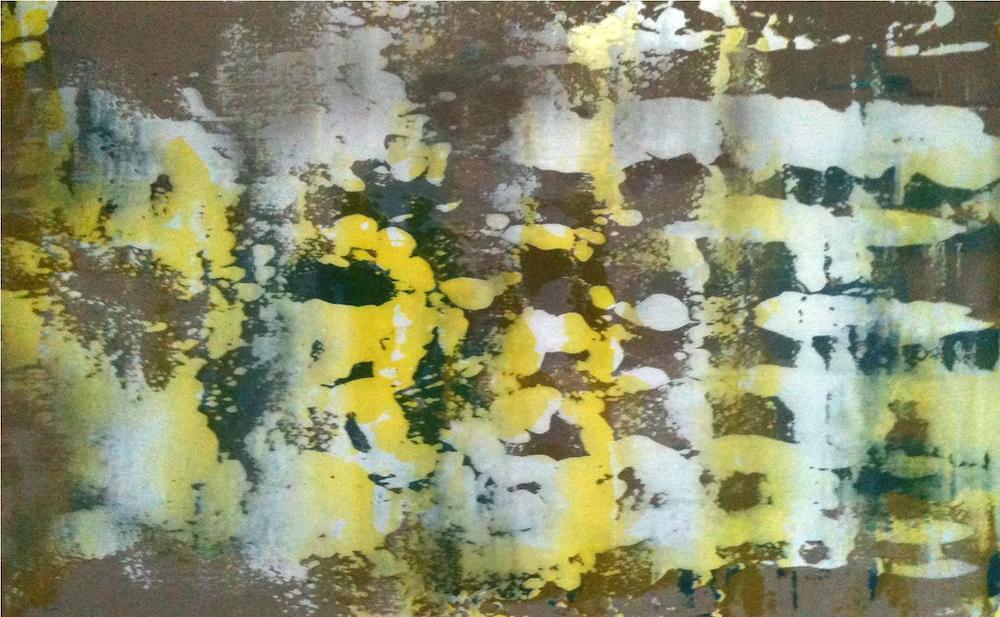 """Untitled  Thomas Zitzwitz ZW152 Acrylic on Canvas 46"""" x 75"""""""